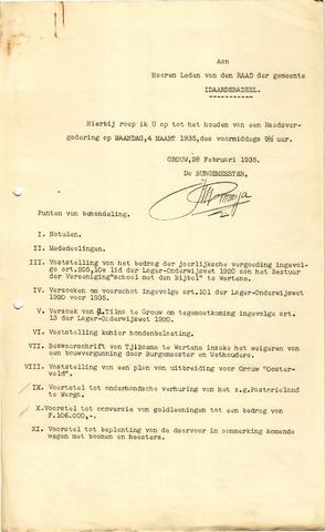 raadsverslagen Idaarderadeel 1935-1983 1935-03-04