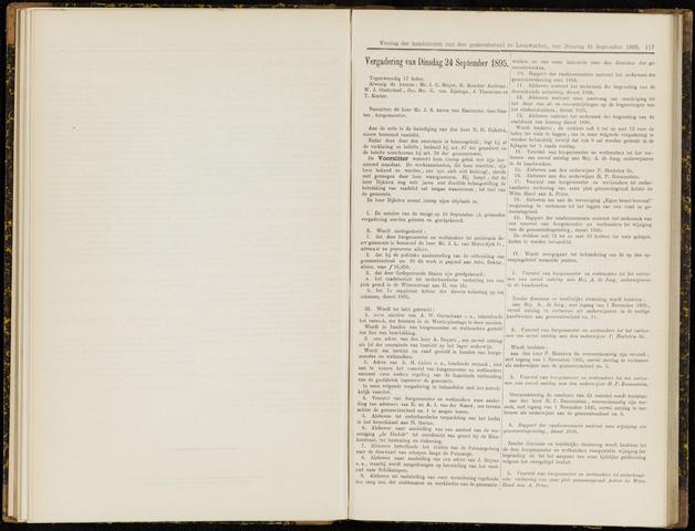 Raadsverslagen van de gemeente Leeuwarden, 1865-2007 (Notulen) 1895-09-24