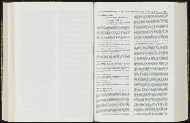 Raadsverslagen van de gemeente Leeuwarden, 1865-2007 (Notulen) 1973-12-11
