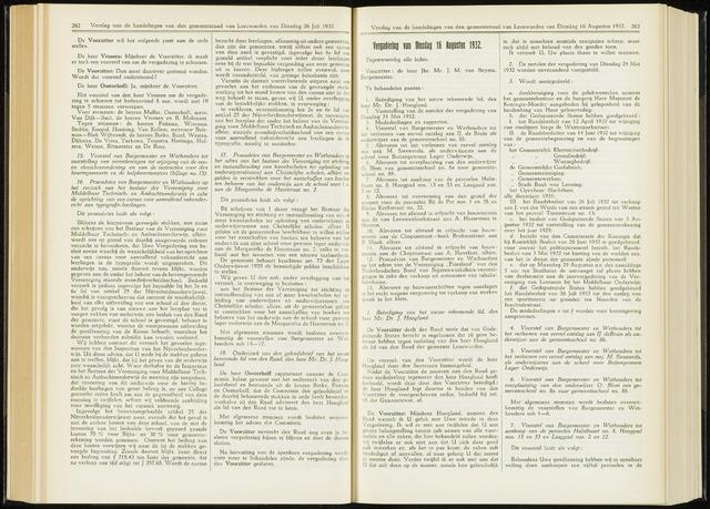 Raadsverslagen van de gemeente Leeuwarden, 1865-2007 (Notulen) 1932-08-16