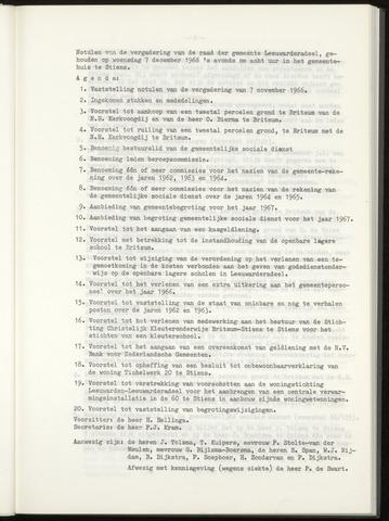 Notulen van de gemeenteraad van Leeuwarderadeel 1966-12-07