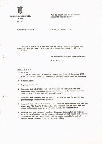 raadsverslagen Idaarderadeel 1935-1983 1981