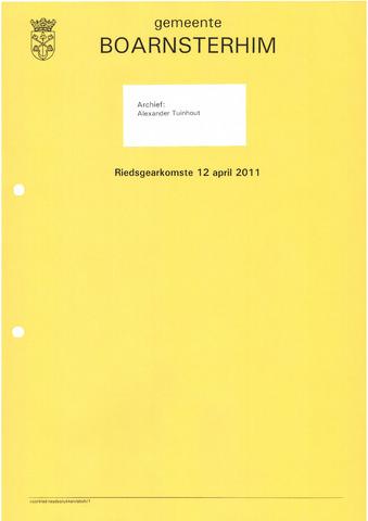 Boarnsterhim vergaderstukken gemeenteraad  2011-04-12