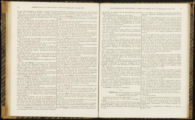 Raadsverslagen van de gemeente Leeuwarden, 1865-2007 (Notulen) 1869-06-24