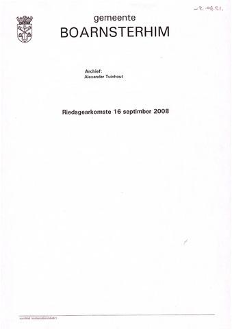 Boarnsterhim vergaderstukken gemeenteraad  2008-09-16