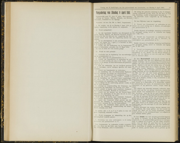 Raadsverslagen van de gemeente Leeuwarden, 1865-2007 (Notulen) 1901-04-09