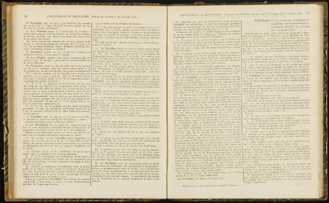 Raadsverslagen van de gemeente Leeuwarden, 1865-2007 (Notulen) 1868-08-01