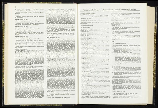 Raadsverslagen van de gemeente Leeuwarden, 1865-2007 (Notulen) 1961-05-24