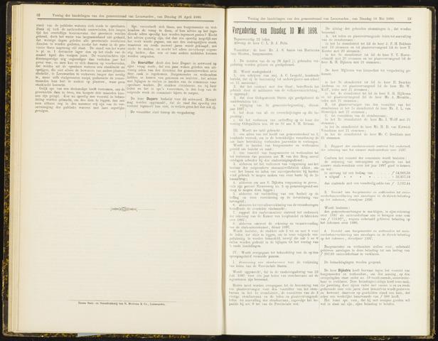 Raadsverslagen van de gemeente Leeuwarden, 1865-2007 (Notulen) 1898-05-10