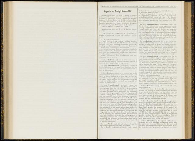 Raadsverslagen van de gemeente Leeuwarden, 1865-2007 (Notulen) 1915-11-09