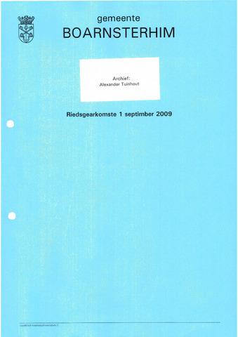Boarnsterhim vergaderstukken gemeenteraad  2009-09-01