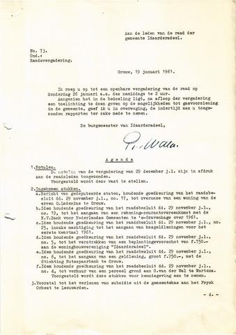 raadsverslagen Idaarderadeel 1935-1983 1961
