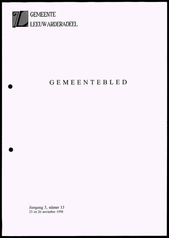 Notulen van de gemeenteraad van Leeuwarderadeel 1998-11-23