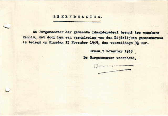raadsverslagen Idaarderadeel 1935-1983 1945