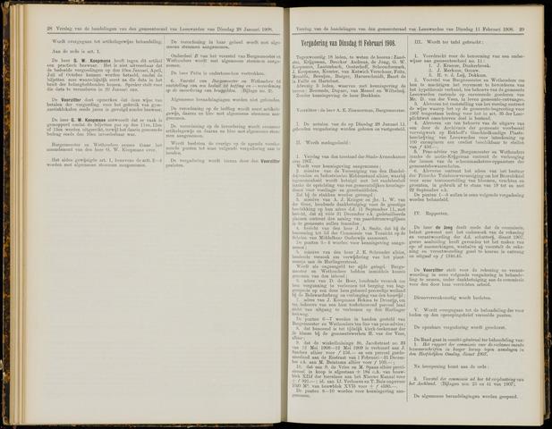 Raadsverslagen van de gemeente Leeuwarden, 1865-2007 (Notulen) 1908-02-11
