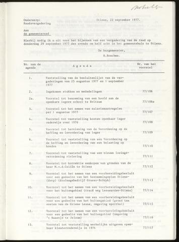 Notulen van de gemeenteraad van Leeuwarderadeel 1977-09-29