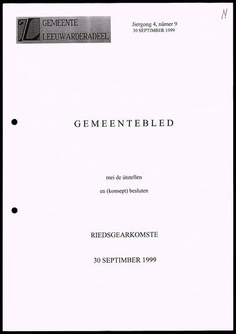 Notulen van de gemeenteraad van Leeuwarderadeel 1999-09-30
