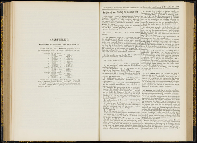 Raadsverslagen van de gemeente Leeuwarden, 1865-2007 (Notulen) 1911-11-28