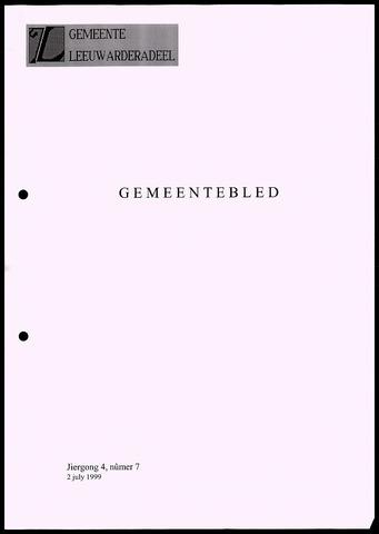 Notulen van de gemeenteraad van Leeuwarderadeel 1999-07-02