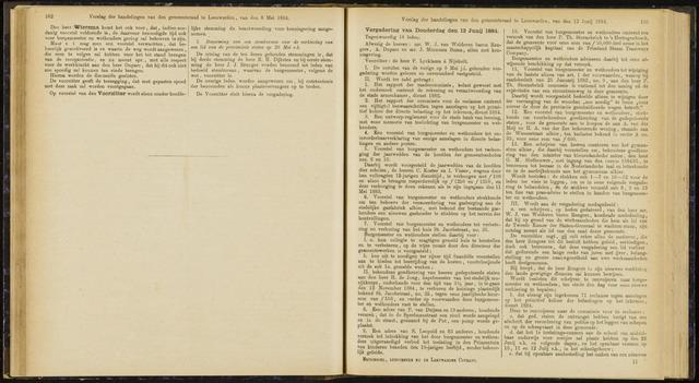 Raadsverslagen van de gemeente Leeuwarden, 1865-2007 (Notulen) 1884-06-12