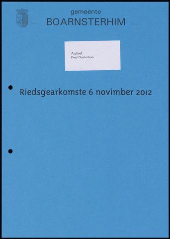 Boarnsterhim vergaderstukken gemeenteraad  2012-11-06