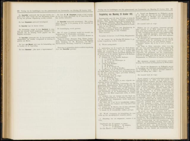 Raadsverslagen van de gemeente Leeuwarden, 1865-2007 (Notulen) 1912-10-28