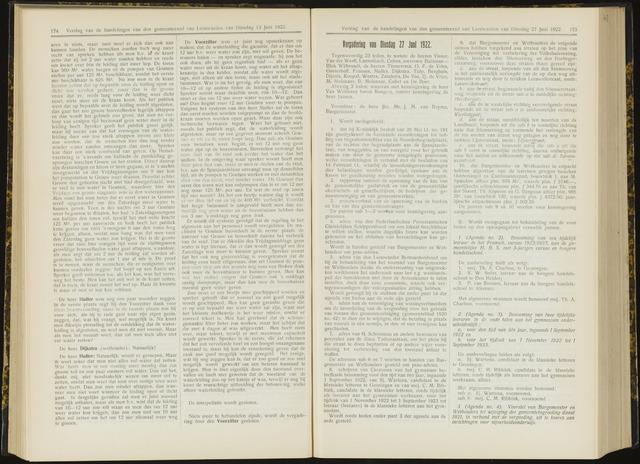 Raadsverslagen van de gemeente Leeuwarden, 1865-2007 (Notulen) 1922-06-27