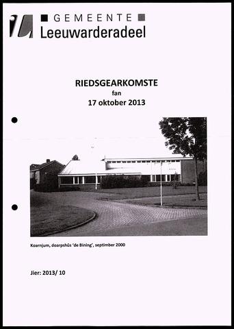 Notulen van de gemeenteraad van Leeuwarderadeel 2013-10-17