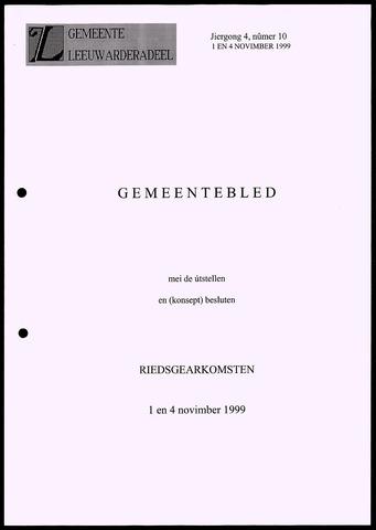 Notulen van de gemeenteraad van Leeuwarderadeel 1999-11-01