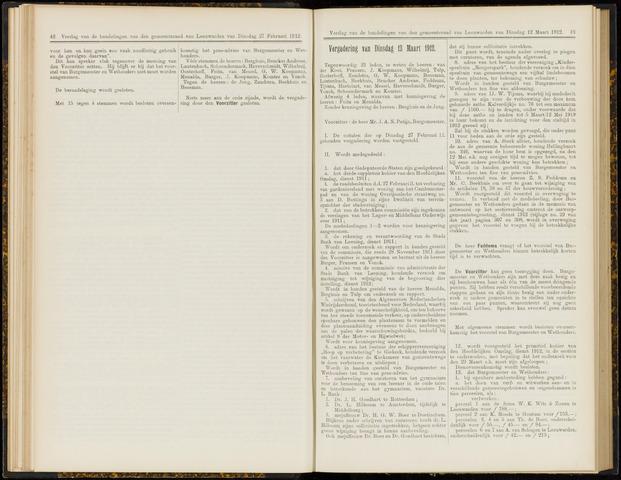Raadsverslagen van de gemeente Leeuwarden, 1865-2007 (Notulen) 1912-03-12