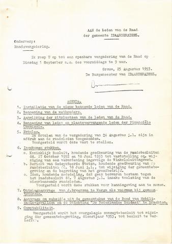raadsverslagen Idaarderadeel 1935-1983 1953-09-01