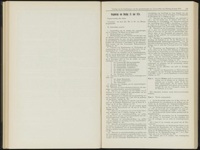 Raadsverslagen van de gemeente Leeuwarden, 1865-2007 (Notulen) 1934-06-26