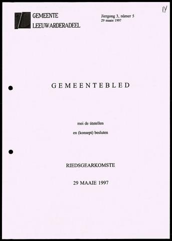 Notulen van de gemeenteraad van Leeuwarderadeel 1997-05-29
