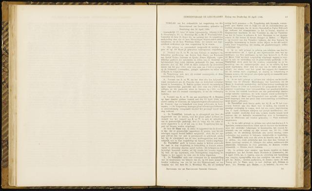 Raadsverslagen van de gemeente Leeuwarden, 1865-2007 (Notulen) 1866-04-12
