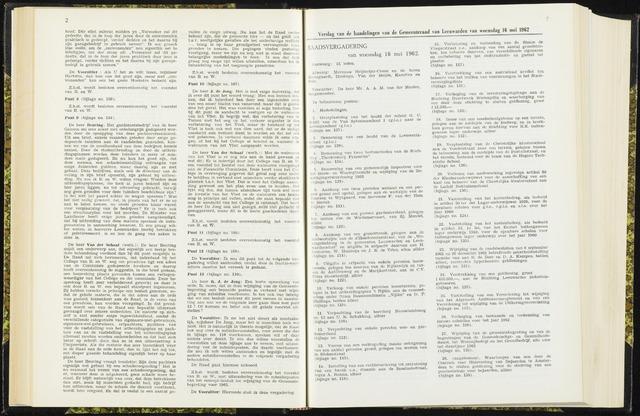 Raadsverslagen van de gemeente Leeuwarden, 1865-2007 (Notulen) 1962-05-16