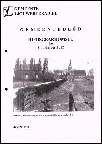 Notulen van de gemeenteraad van Leeuwarderadeel 2012-11-08