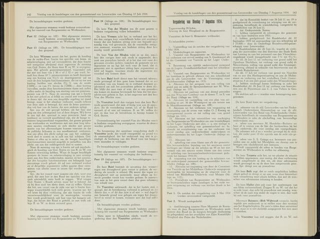 Raadsverslagen van de gemeente Leeuwarden, 1865-2007 (Notulen) 1934-08-07