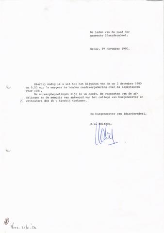 raadsverslagen Idaarderadeel 1935-1983 1980-12-02