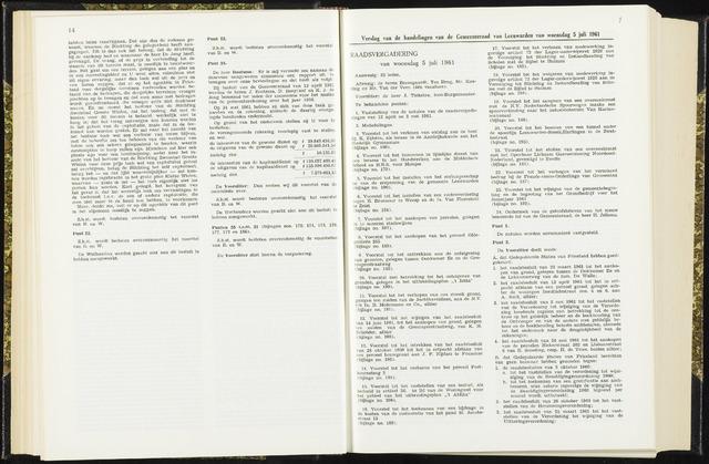 Raadsverslagen van de gemeente Leeuwarden, 1865-2007 (Notulen) 1961-07-05