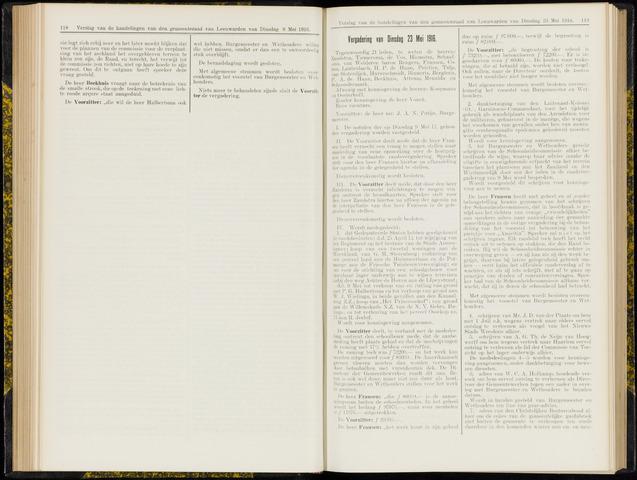 Raadsverslagen van de gemeente Leeuwarden, 1865-2007 (Notulen) 1916-05-23