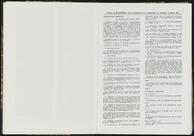 Raadsverslagen van de gemeente Leeuwarden, 1865-2007 (Notulen) 1974-01-28