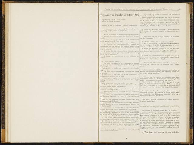 Raadsverslagen van de gemeente Leeuwarden, 1865-2007 (Notulen) 1890-10-28