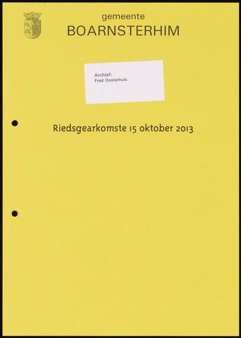 Boarnsterhim vergaderstukken gemeenteraad  2013-10-15