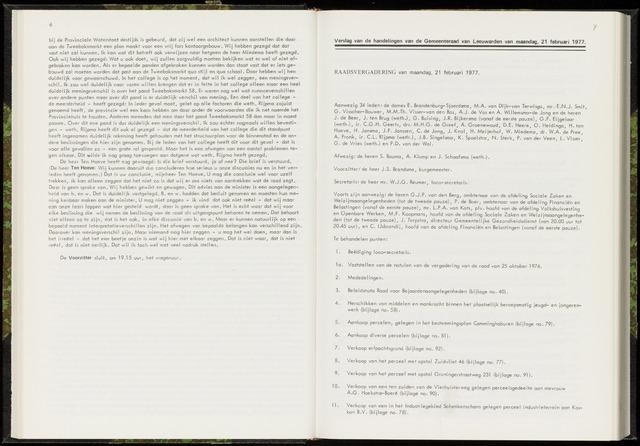 Raadsverslagen van de gemeente Leeuwarden, 1865-2007 (Notulen) 1977-02-21