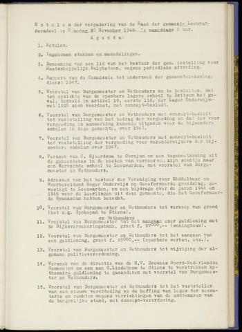 Notulen van de gemeenteraad van Leeuwarderadeel 1948-10-01