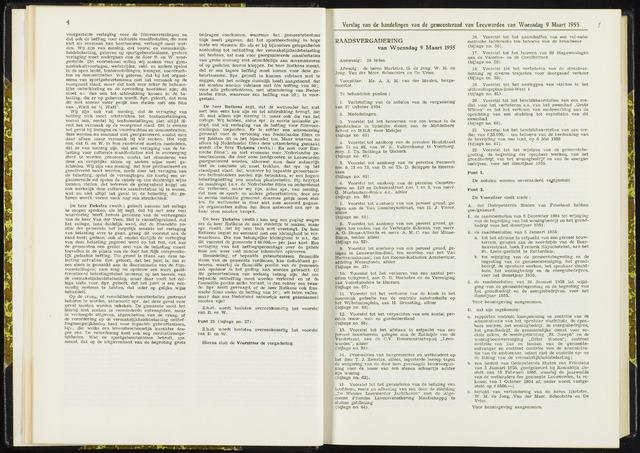 Raadsverslagen van de gemeente Leeuwarden, 1865-2007 (Notulen) 1955-03-09