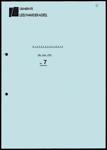 Notulen van de gemeenteraad van Leeuwarderadeel 1990-06-28