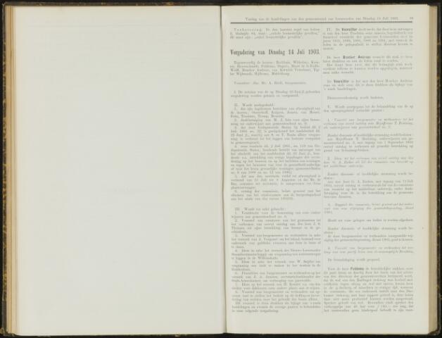Raadsverslagen van de gemeente Leeuwarden, 1865-2007 (Notulen) 1903-07-14