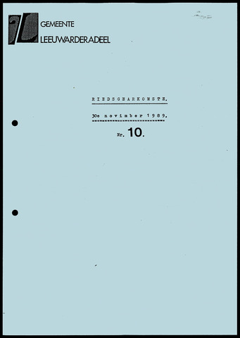Notulen van de gemeenteraad van Leeuwarderadeel 1989-11-30