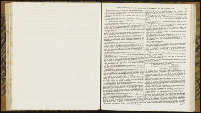 Raadsverslagen van de gemeente Leeuwarden, 1865-2007 (Notulen) 1878-10-24